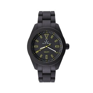 ToyWatch Velvety Black and Yellow VV03BK