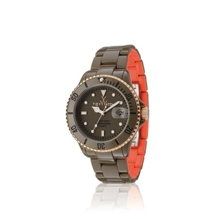 ToyWatch Toy MrHyde Pewter and Orange HY02DG