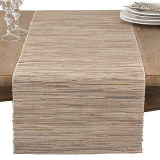 Charmant Shimmering Woven Nubby Texture Water Hyacinth Table Runner