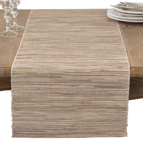 Shimmering Woven Nubby Texture Water Hyacinth Table Runner