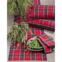 Glendora Collection Classic Plaid Design Cotton Table Runner