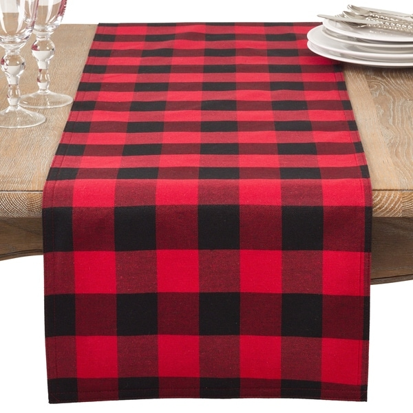 Buffalo Plaid Cotton Blend Table Runner. Opens flyout.