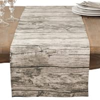 Wood Grain Design Cotton Table Runner