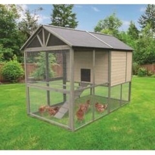 Coops & Feathers Walk In Wooden Chicken Coop & Hen House (Extra Large)