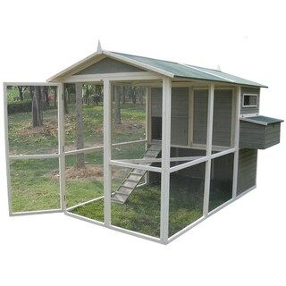 Coops & Feathers? Extreme Green Wooden Walk-In Hen Coop