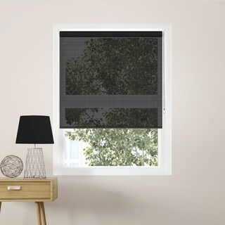 Chicology Midnight Black Beaded-Chain Solar Roller Shades