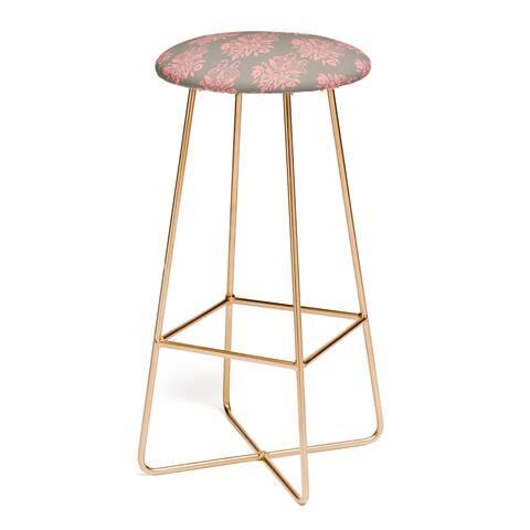 Morgan Kendall Pink Lace Bar Stool