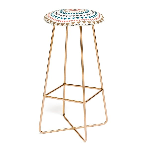 The Curated Nomad Clopin Sun Pattern Barstool