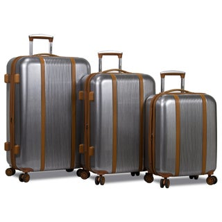 World Traveler Deluxe 3-Piece Hardside Spinner Luggage Set with TSA Lock