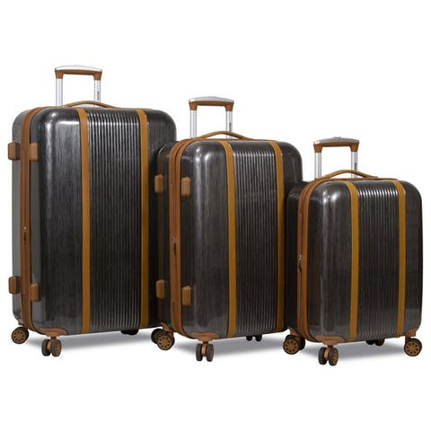 Deluxe 3-Piece Hardside Spinner Luggage Set with TSA Lock