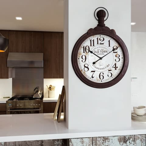 Black Wood Timepiece Wall Clock