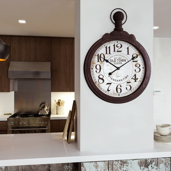 Black Wood Timepiece Wall Clock. Opens flyout.
