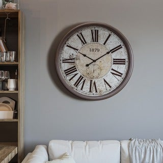 Circular Wall Clock with Glass