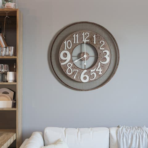 Circular Wire Mesh Wall Clock