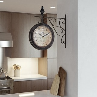 Double Sided Iron Wall Clock