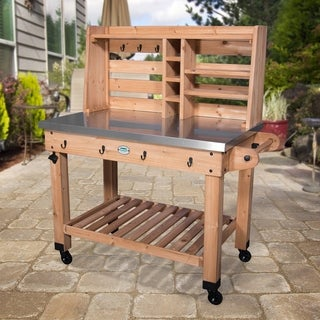 Backyard Discovery All Cedar Serving Cart