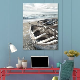 Portfolio Canvas Decor Beached Boats I Light Canvas Wall Art