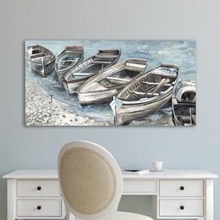 Portfolio Canvas Decor Beached Boats II Light Canvas Wall Art