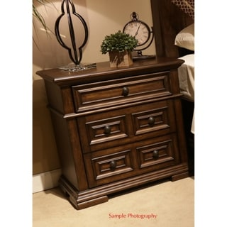 Lucca Cordovan Brown 3-Drawer Nightstand