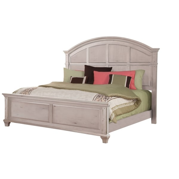 Greyson Living Laguna Antique White Panel Bed 6piece: Shop Harbor Point Vintage Panel Bed By Greyson Living