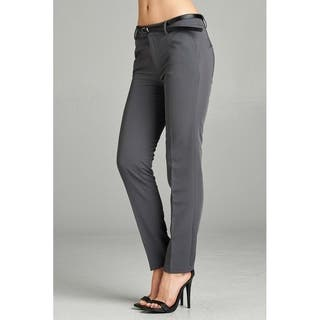 JED Women's Classic Woven Dress Pants with Belt|https://ak1.ostkcdn.com/images/products/17433140/P23666881.jpg?impolicy=medium