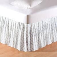 White & Green Lattice Bed Skirt