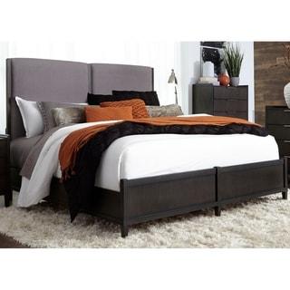 Tivoli Satin Charcoal Uphosltered Low Profile Bed