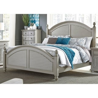 Liberty Summer House II Cottage Grey Poster Bed Set