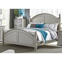 Shop Heathstone Oak King Size Poster Bed Free Shipping