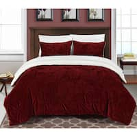 Chic Home Kaiser 7-Piece Comforter Ultra Plush Micro Mink Bedding Set- Burgundy