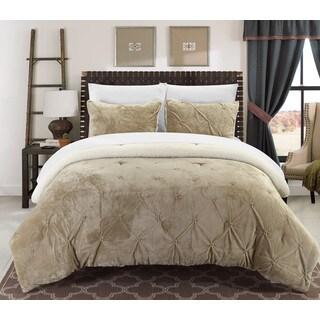 Chic Home Kaiser 7-Piece Comforter Ultra Plush Micro Mink Bedding Set- Beige