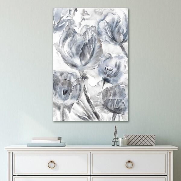 Portfolio Canvas Decor Tulip Waltz Grey Canvas Wall Art