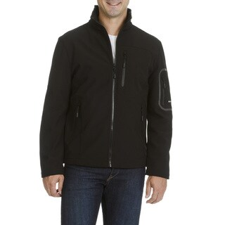 Emanuel Ungaro Men's Wind Resistant and Water Repellent Soft Shell Jacket