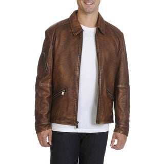 Boston Harbour Vintage Men's Leather Jacket