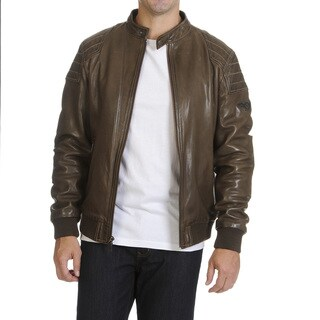 Boston Harbour Vintage Men's Bomber Leather Jacket