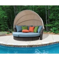 Havenside Home Stillwater Taupe Outdoor Expandable Daybed with Canopy
