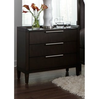 Tivoli Satin Charcoal 3-Drawer Nightstand