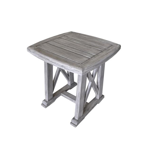 Driftwood Teak Table: Shop Havenside Home Surfside Driftwood Grey Teak Deck End