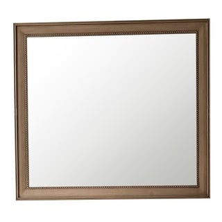 "Link to Bristol 44"" Rectangular Mirror, White Washed Walnut - White Washed Similar Items in Mirrors"