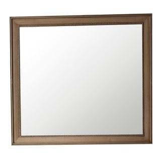 "Bristol 44"" Rectangular Mirror, White Washed Walnut - White Washed"