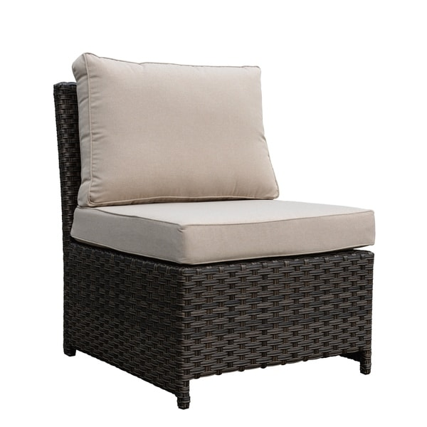 Havenside Home Stillwater Brown Outdoor Chair with Cushions