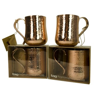TAG Copper Moscow Mule Drinkware Set of 4