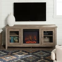"""58"""" Fireplace TV Stand Console - Grey Wash - 58 x 16 x 24h"""