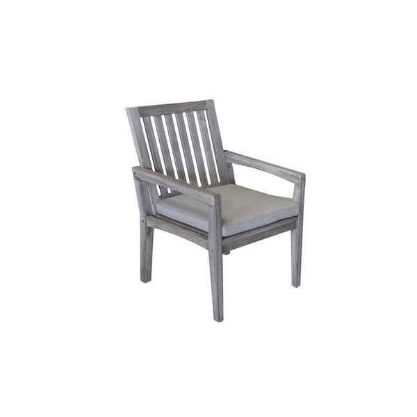 Shop Havenside Home Surfside Grey Teak Outdoor Dining Chair With