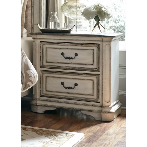 Magnolia Manor Antique White 2-Drawer Nightstand