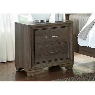 Hartley Grey Wash 2-Drawer Nightstand