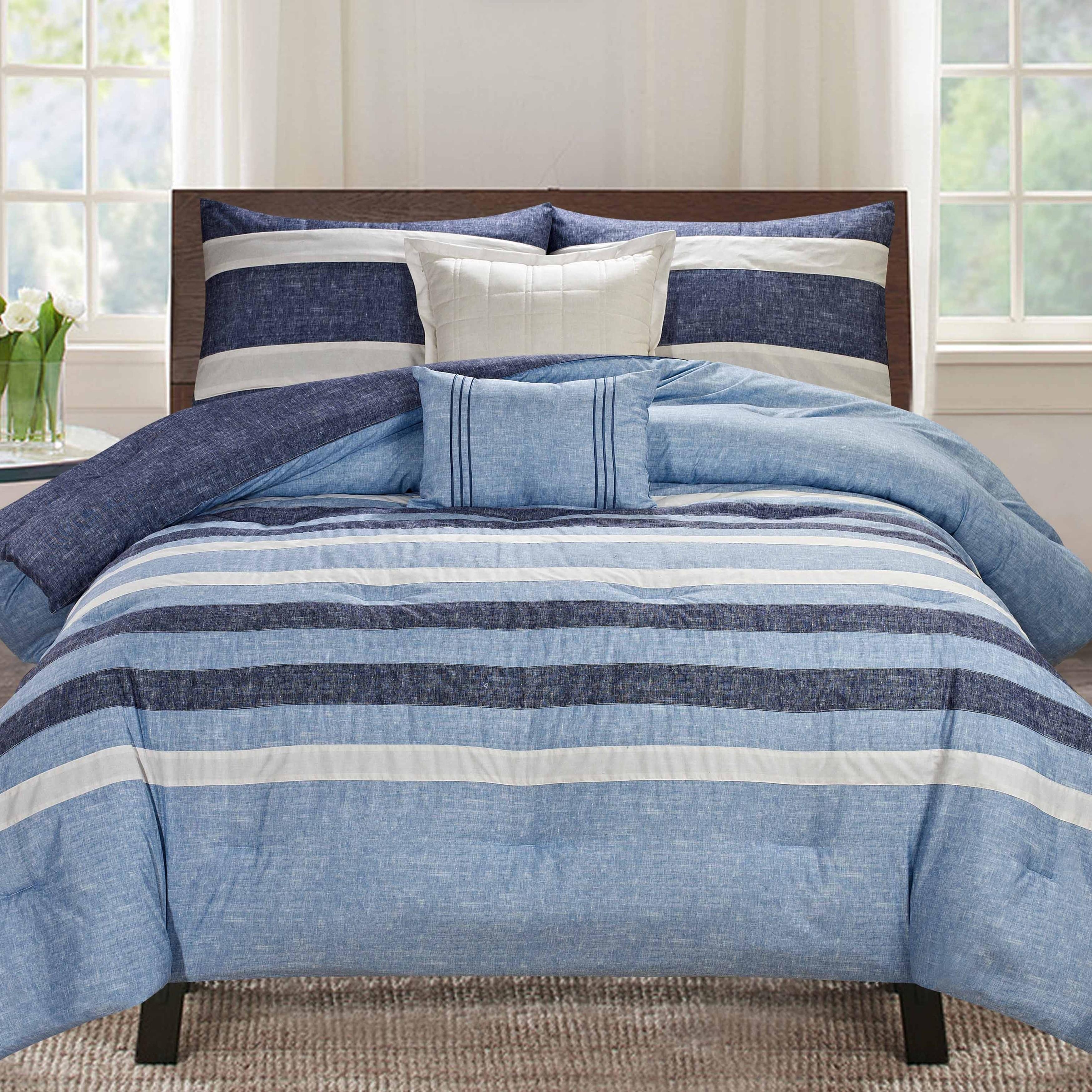 free set loft cfae bath piece bedding product today overstock cummins bed shipping stone com cotton cottage conrad carbon comforter