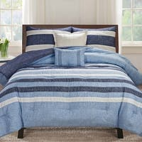 Genova Stripe 5-piece Bedding Comforter Set