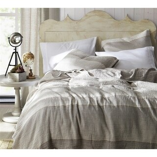 BYB Rustica Portugal - Soft Denim Stone Washed Quilt - Taupe