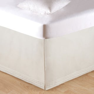 Soft White Tailored 18-inch Drop Bed Skirt